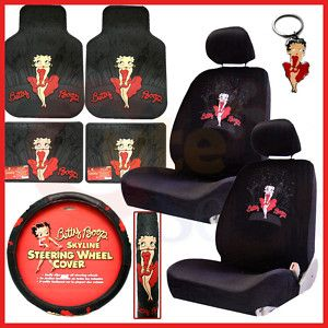 Betty Boop Car Seat Covers Accessories Set Low Back