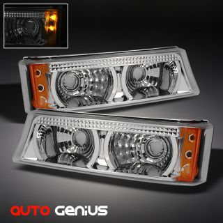 03 06 CHEVY SILVERADO LED BUMPER PARKING SIGNAL LIGHTS LAMP PAIR SET