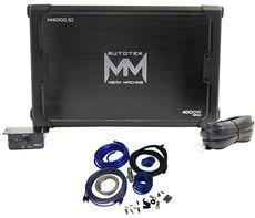 Autotek M4000 1D 4000 Watt Peak 2000 Watt RMS Mono Car Amplifier 4 AWG