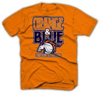 Denver Broncos Shirt Peyton Manning Jersey Orange Blue T Shirt