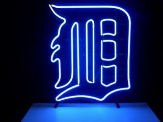 New MLB Detroit Tigers Real Neon Light Beer Bar Pub Sign