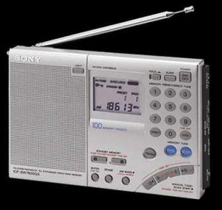 sony multi band world receiver am fm radio clock w