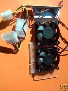 low profile agp slot slim quiet cooling fan card time
