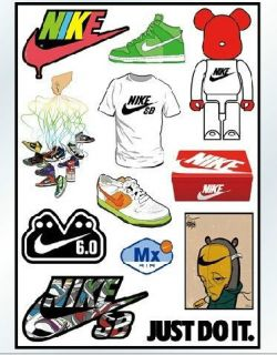 12 of nike sb air mx vinyl sticker decal rare