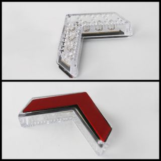 Sequentail 7 LED Turn Signal Arrow White Lights Side View Mirror