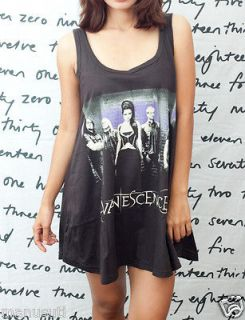 Evanescence Amy Lee Rock Roll Pop Art oo WOMEN T SHIRT DRESS Tank TOP