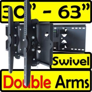 ARTICULATING DUAL ARM SWIVEL TILT LCD LED TV WALL MOUNT LG Samsung