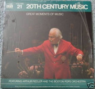 Arthur Fiedler 20th Century Music LP Time Life