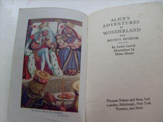 BOOK ALICE IN WONDERLAND BRUNO LEWIS CARROLL C1930S ILLUSTRATED B W