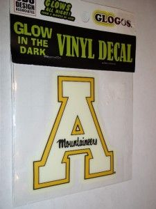 NCAA Appalachian Mountaineers Glow in The Dark Vinyl Decal Car Truck