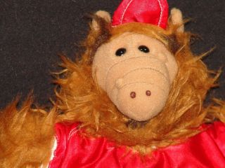 VINTAGE BURGER KING ALF ALIEN PUPPET BASEBALL JERSEY AT STUFFED ANIMAL