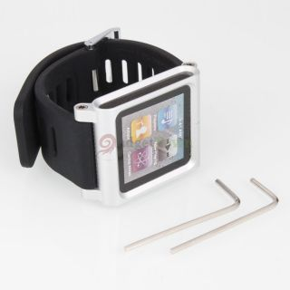 Touch Bracelet Watch Band for Apple iPod Nano 6th Gen Silver