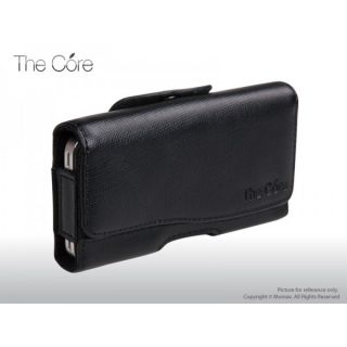 Momax Black Horizontal Leather Case for Apple iPhone 4