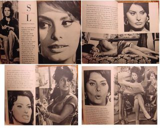 Pageant Magazine July 1962 Sandy Hill Sophia Loren