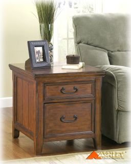 Ashley Furniture   Woodboro Rectangular End Table w/ Work Center