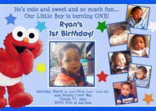 Sesame Street Baby Babies Custom Photo Birthday Invitations