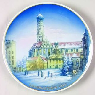 Rosenthal Classic Rose Christmas Plate 1985 Augsburg