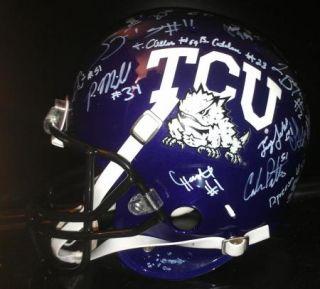 2012 Texas TCU Horned Frogs team signed Football Helmet  CERTIFICATE