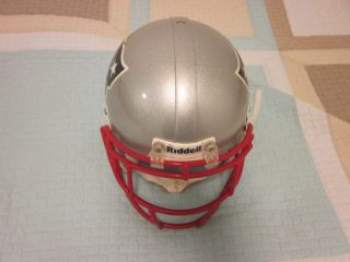 2009 new england patriots game used helmet leigh bodden time
