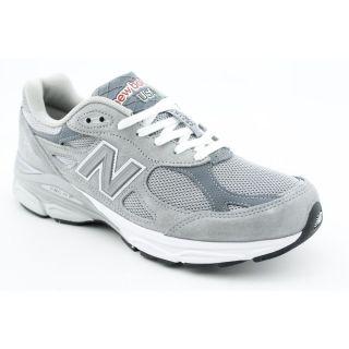 Balance M990v3 Heritage Mens Size 12 Gray Regular Suede Running Shoes