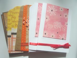 12 Assorted Handmade Cards Christmas Greeting Birthday Coffee Autumn