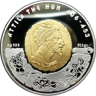 Kazakhstan 2009 100 Tenge Great Commanders 1Oz Attila the Hun