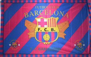Barcelona Futbol Club Flag 3x5 Soccer Red Banner