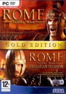 Rome Total War Gold Edition 2 Games Win 98 XP DVD ROM 010086851663