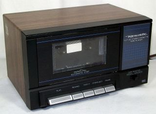 Realistic Stereo Audio Cassette Tape Playback Deck, 14 632, Works, VG