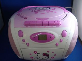 Spectra KT2028B Hello Kitty AM/FM Stereo CD Cassette Recorder