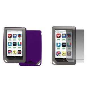For Barnes and Noble Nook Color Purple Hard Stealth Case Cover Screen
