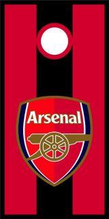 Arsenal Gunners Cornhole Bag Toss Game Wrap Graphic Decal Set