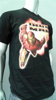 Steve & Barrys Iron Man Mens L Black Cotton Embellished Tee T Shirt
