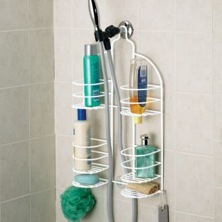 Hand Held Shower Caddy Split Design Storage Rustproof Steel NEW