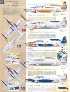 Aztec Decals 1 72 Lockheed T 33 Mexican Air Force 45 Years