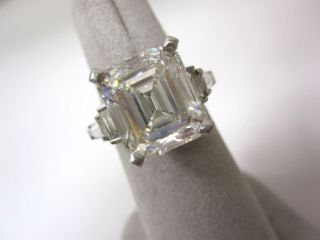Amazing GIA Certified 8 25 Carat Asscher Emerald Cut Single Loose