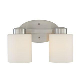 NEW Dolan 2 Light Bathroom Vanity Lighting Fixture, Brushed Nickel