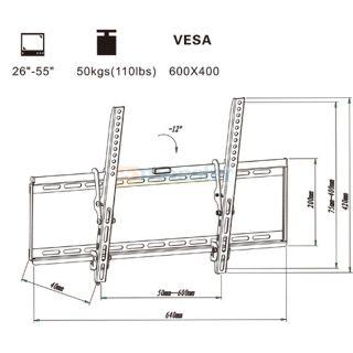 LCD LED Plasma TV Wall Mount Bracket for AOC 26 29 32 35 39 42
