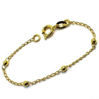 gold 18k gf bracelet ball small birth gift baby child girl 4 5 infants
