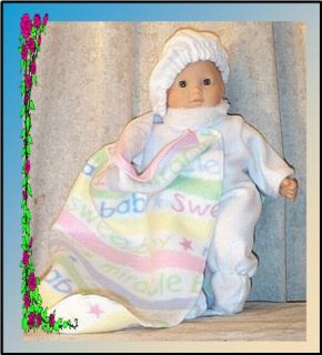 Doll Clothes Snow Suit Fit 14 16 inch American Girl Bitty Baby White