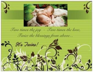 20 Twins Baby Shower Invitations Post Cards Postcards