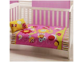 Baby Garden Cot Crib Quilt Pillow Set Comforter Girl Ladybug