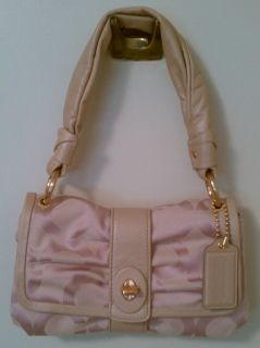 AUTHENTIC COACH PARKER PINK OP ART SIGNATURE SOFT SMALL FLAP PURSE