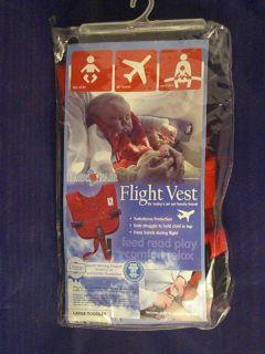 Baby Bair Bair Flight Vest for Travel Safety Restraint NIP Sz Large