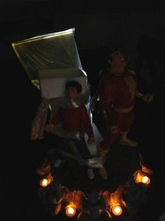 DC Captain Marvel Shazam Billy Batson Statue Extremely RARE Lights and