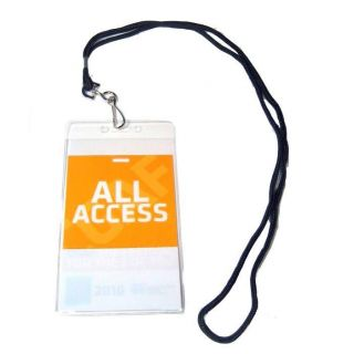 Backstage Pass All Access VIP Badge Holder w Lanyard