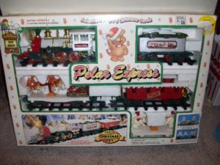 polar express christmas train set battery operated