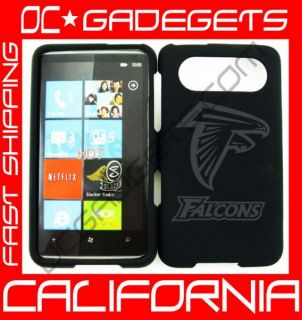 Atlanta Falcons NFL Black Case Cover HTC HD7 NFL