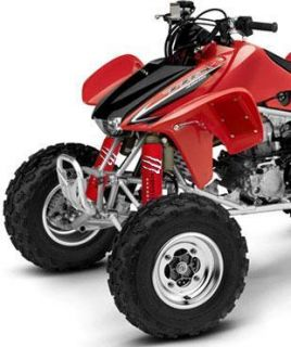 Red Shock Covers Honda ATV TRX 700 TRX700 XX Set 4
