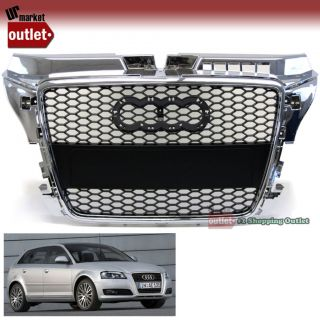 Chrome Edge RS Style Grille for Audi A3 08 11 8P Post Facelift